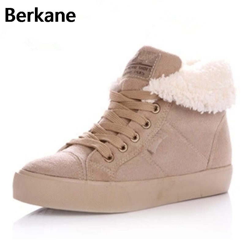 Fur Snow Boots Winter Warm Female Cotton-padded Shoes Women Autumn 2017 Australia Plush Fashion Short Ankle Boot Boats Mujer Hot 2017 cow suede genuine leather female boots all season winter short plush to keep warm ankle boot solid snow boot bota feminina