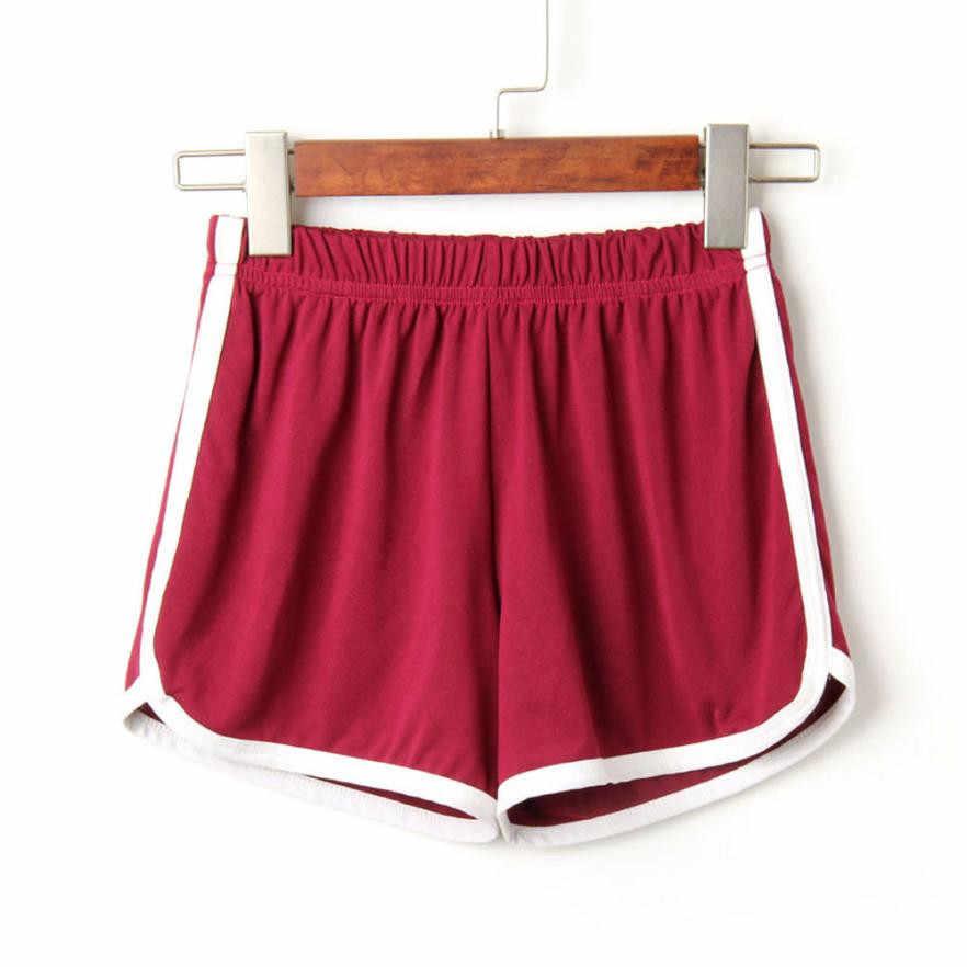 Moda feminina senhora verão diário shorts cintura elástica simples curto feminino na altura do joelho sólido shorts casuais quente para 90 splus tamanho