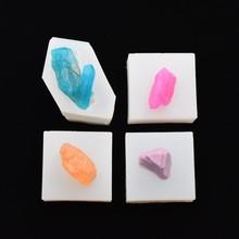Silicone Mold Irregular crystal pendant epoxy Resin Mould handmade tool Craft Jewelry Making