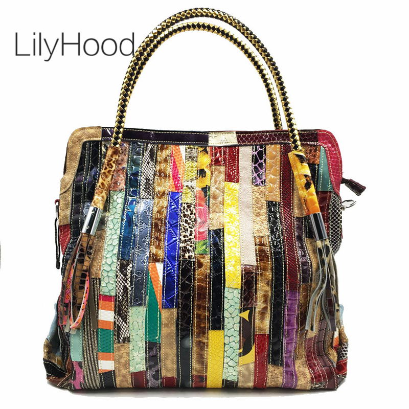 Big Capacity Real Leather Handbag for Women Designer Lady Genuine Leather Patchwork Top Handle Bag Casual Leisure Daily Work BagBig Capacity Real Leather Handbag for Women Designer Lady Genuine Leather Patchwork Top Handle Bag Casual Leisure Daily Work Bag