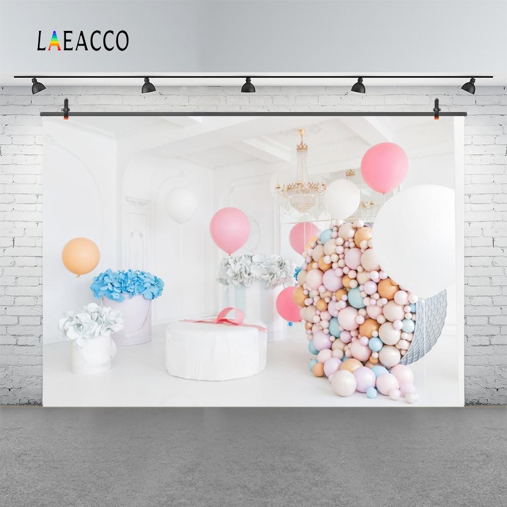 Laeacco colorate baloane flori copil nou-născuți de fotografie - Camera și fotografia - Fotografie 3