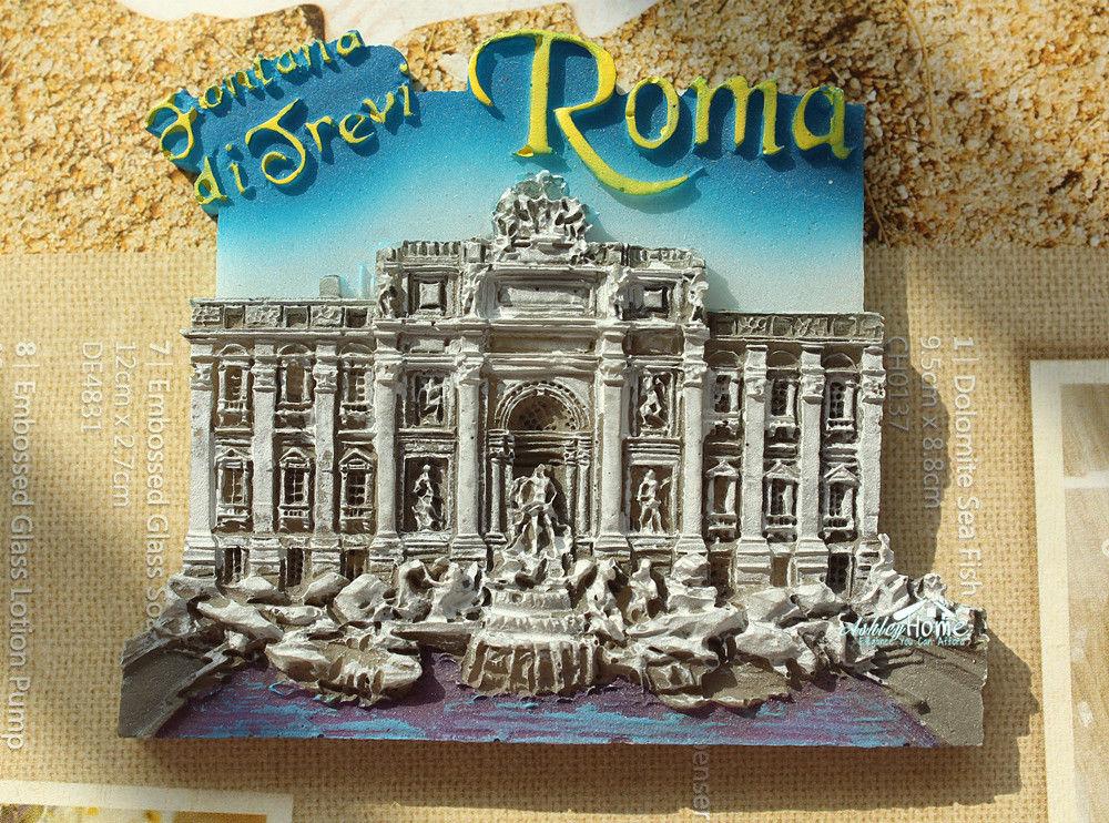 Fontana di Trevi, Rome, Italy Tourist Travel Souvenir 3D Resin Decorative Fridge Magnet Craft GIFT