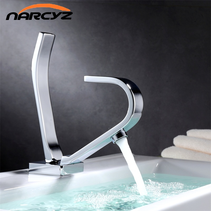 Basin faucet Chrome hot and cold copper thickened wash bathroom cabinet wash the bathroom creative personality bathroom XT514Basin faucet Chrome hot and cold copper thickened wash bathroom cabinet wash the bathroom creative personality bathroom XT514