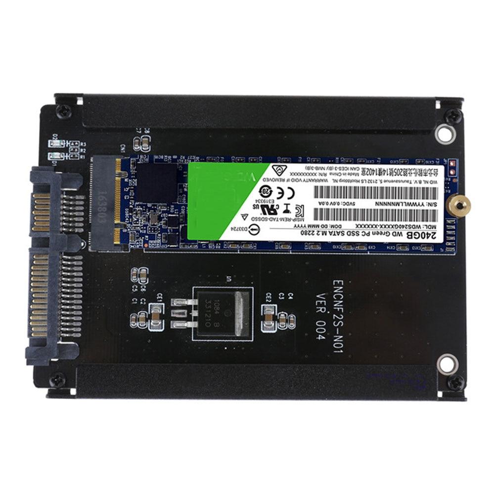 Metal Case B+M Key M.2 NGFF SSD To 2.5 SATA 6Gb/s Adapter Card With Enclosure Socket  NGFF Adapter