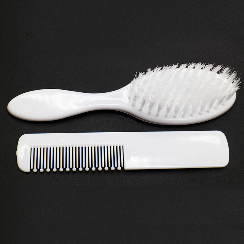 2pcs lot 2019 Sale Limited 0 3 Months 10 12 Months Hairbrush Cute Baby Boy Girl Kids Gentle Soft Hair Brush Comb Set Newborn in Brushes Combs from Mother Kids
