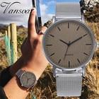 Best Selling 2019 Fashion Women Men Leather Quartz Analog Watch Casual Vansvar Brand Luxury Gift Clock Relogio Feminino Q