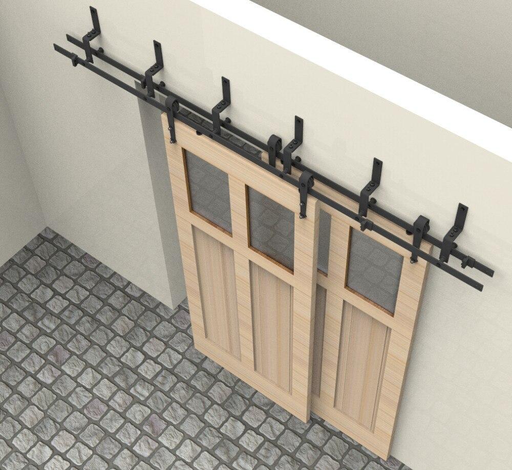 ft bypass correderas herrajes para puerta de madera maciza puerta del armario