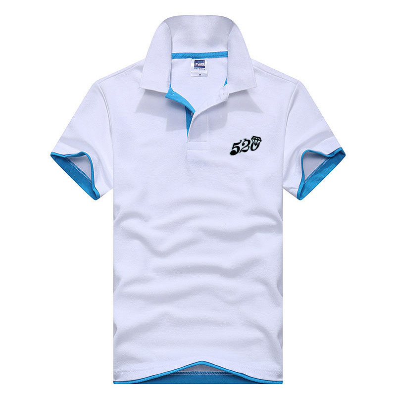 2019 summer new short sleeve   POLO   shirt men's fashion brand   POLO   shirt men's brand knit cotton casual slim shirt T