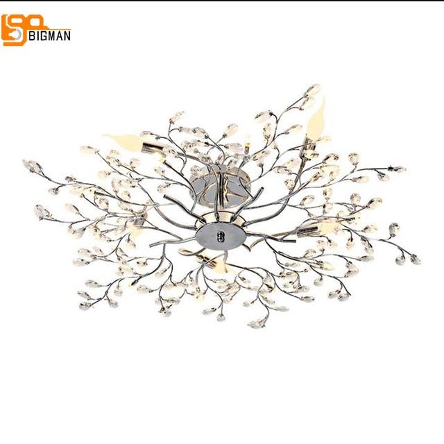 Nouvelle conception de fleur cristal ceiliing lustre moderne lustres luminaire plafonnier salon chambre lumi re AC110V.jpg 640x640 Résultat Supérieur 15 Frais Lustre Fleur Photographie 2017 Hjr2