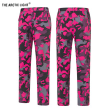 THE ARCTIC LIGHT Women Men Fleece Pants Camouflage Waterproof Warm Windproof Outdoor Fishing Camping Hiking Skiing Trousers winter outdoor fishing clothing camouflage sports men pants sports men jacket and pants fleece warm windproof for fishing