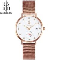 KING HOON Watch Women Rose Gold Waterproof Date Quartz Watches Ladies Top Brand Luxury Female Wrist