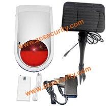 Внутренней беспроводной siren наружного использования Солнечный источник питания with1200mA резервная батарея