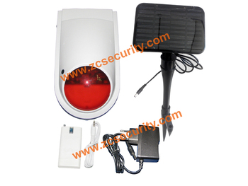 Outdoor Power Supply   Ourdoor Wireless Siren Outdoor Using Solar Power Supply With1200mA Back Up Battery Free Shipping