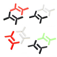 Fashion Clover propeller Hubsan Upgraded 3-Leaf Propellers for H107L H107C H107D Black Red Green White Rc Toy parts Hot Sale