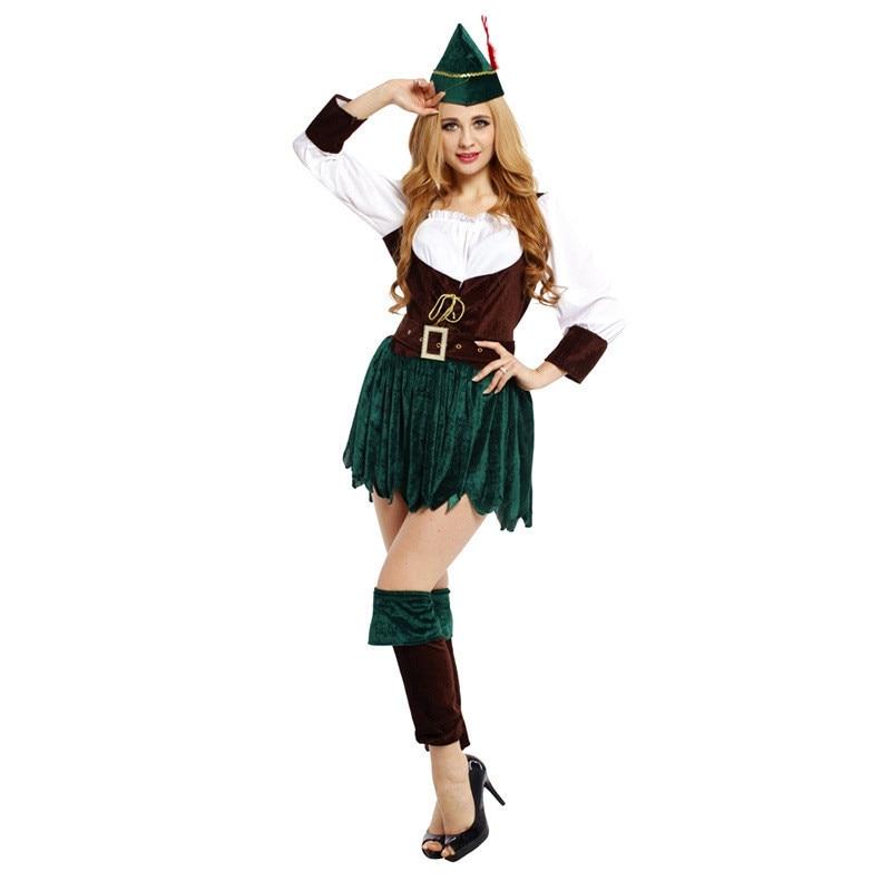 2018 Adult Women Archer Arrow Hunter Halloween cosplay Costume