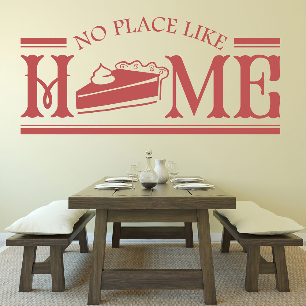 No Place Like Home Quote Dining Room Wall Stickers Home Kitchen Decor Art Decals