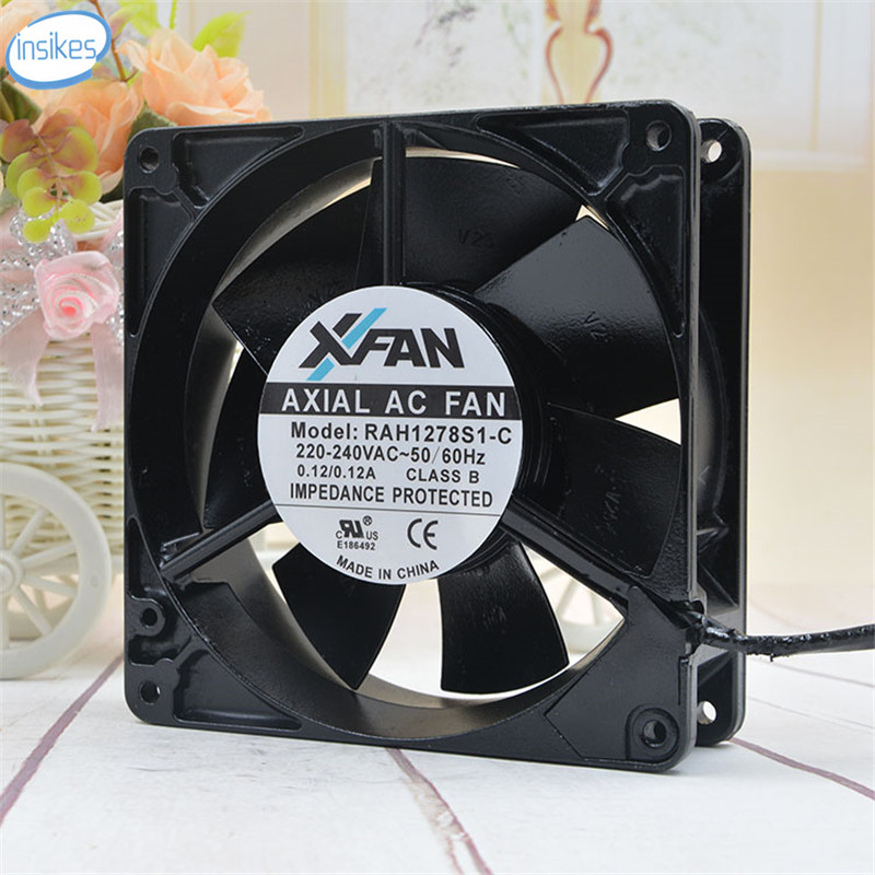 RAH1278S1-C High Temperature All Metal Cooling Fan AC 220V 0.12A 1500RPM 12738 12cm 127*127*38mm cpu cooling conductonaut 1g second liquid metal grease gpu coling reduce the temperature by 20 degrees centigrade
