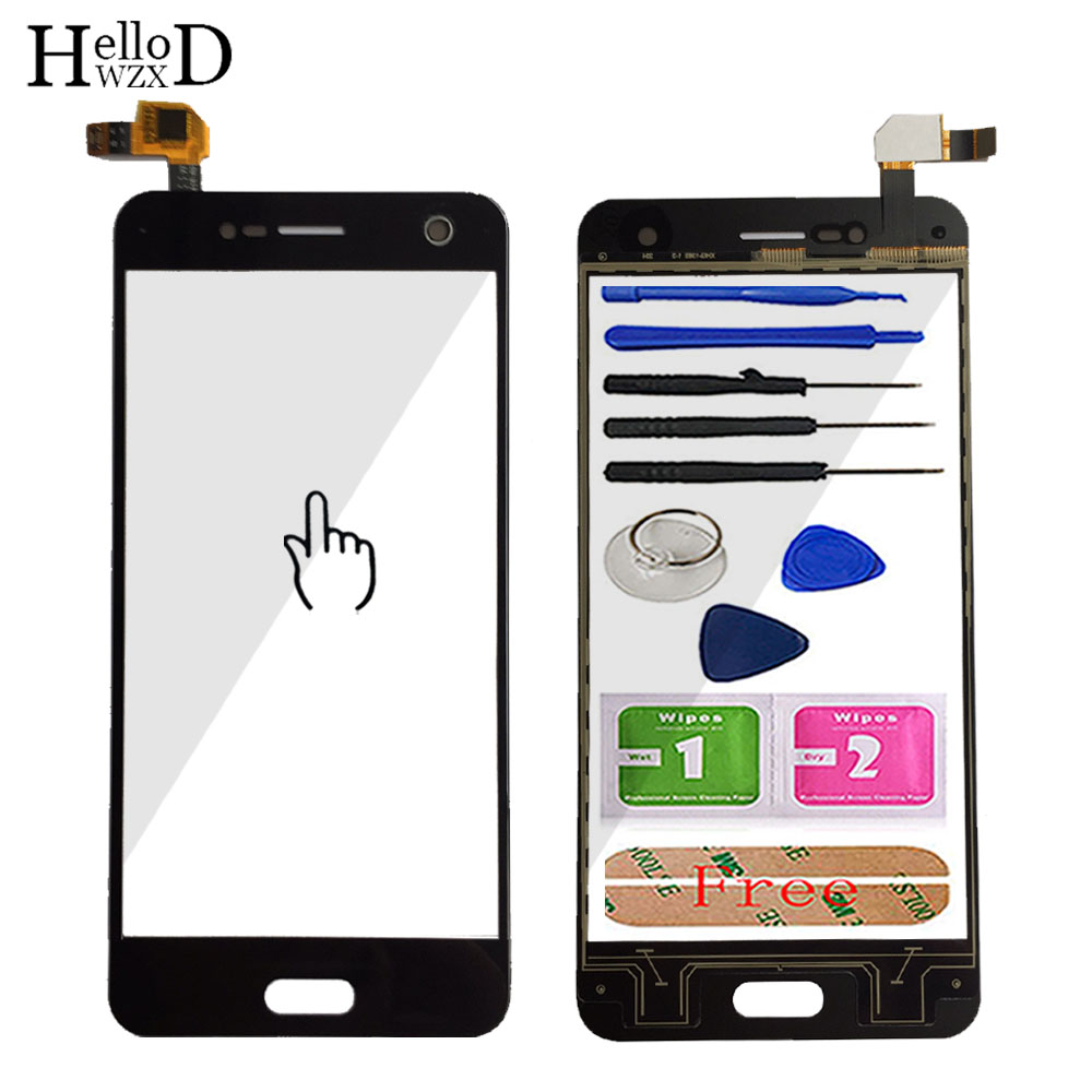 Touch Screen Glass For ZTE Blade V8 Touch Screen Front Glass Digitizer Panel Lens Sensor 5.2'' Mobile Phone Tools Adhesive(China)