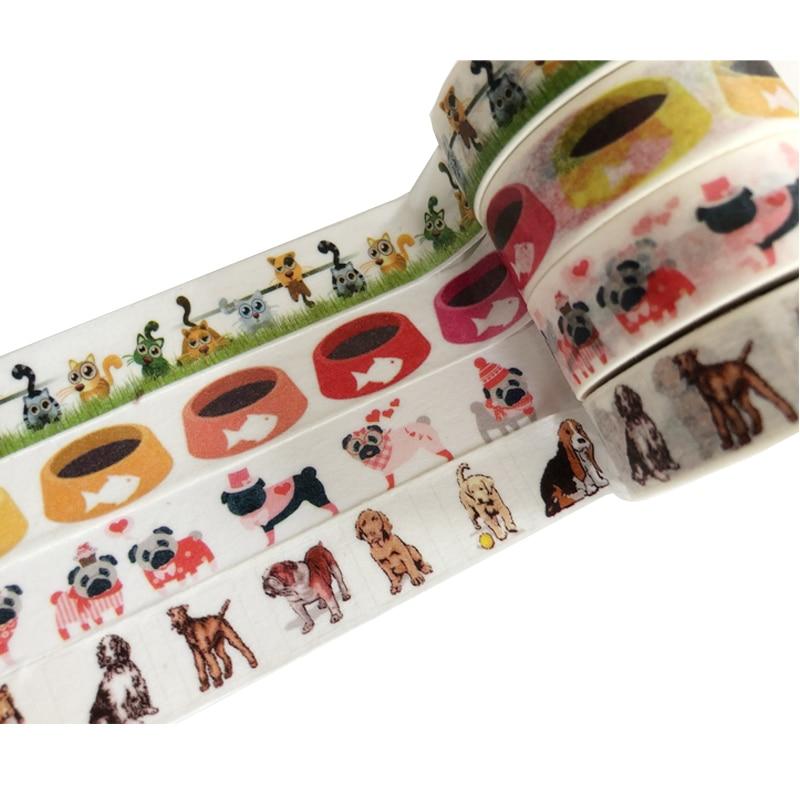 Adhesive The pet dog tape dog Washi Tape Decorative animal Tape DIY Scrapbook Paper Photo Album Masking Tape japanese washi tape decorative tape scrapbook paper masking sticker photo album washi tape