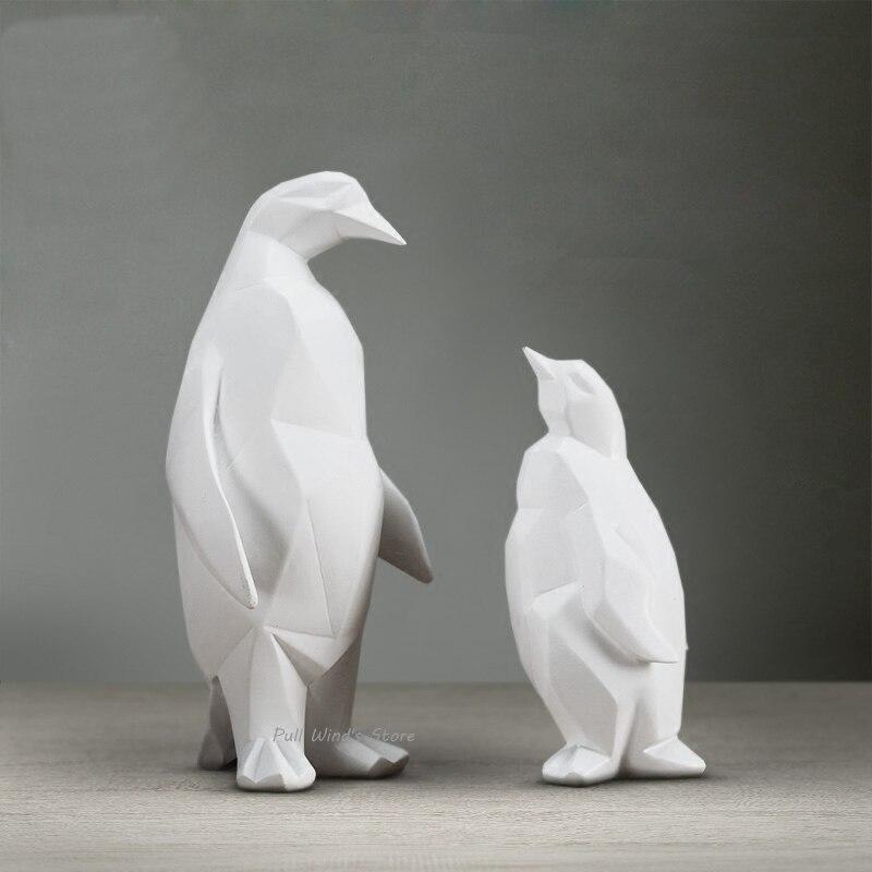 ᗐBreve pingüino BLANCO arte abstracto estatuas esculturas moda ...