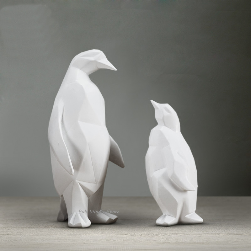 buy brief white penguin abstract art statues sculptures modern fashion. Black Bedroom Furniture Sets. Home Design Ideas
