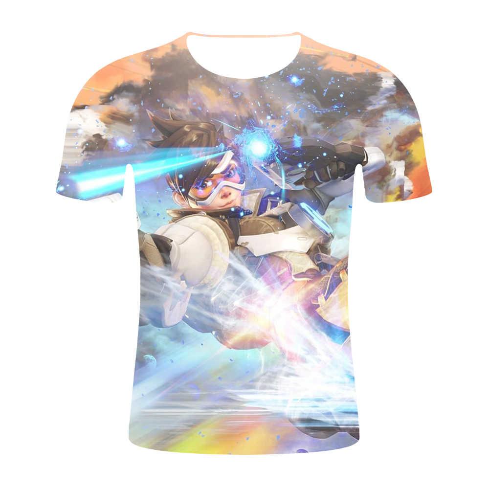 2019 новая игра косплей мужские летние футболки Overwatch OW 3D печать Новый герой SOMBRA Мужская футболка топы Мужские Женские хип-хоп футболки