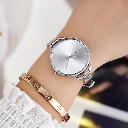 DIFONEY Stainless Steel Ladies Mesh Strap Quartz Watch Fashion Casual Young Women Wristwatches Luxury Brand Girl Dress Watch