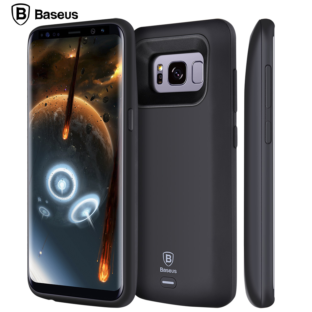 competitive price 2d108 eef93 US $34.03 |BASEUS Acculader Case Voor Samsung Galaxy S8/S8 Plus 5000/5500  mAh Batterij Case Cover Externe Rugzak Power Bank Case in BASEUS Acculader  ...