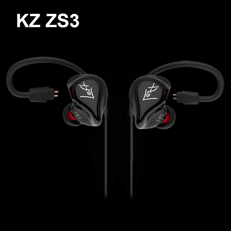 Оригинальный KZ zs3 Шум изоляции профессиональные Hi-Fi Bass Музыка Наушники наушники с микрофоном для iPhone Samsung + Съемный кабель