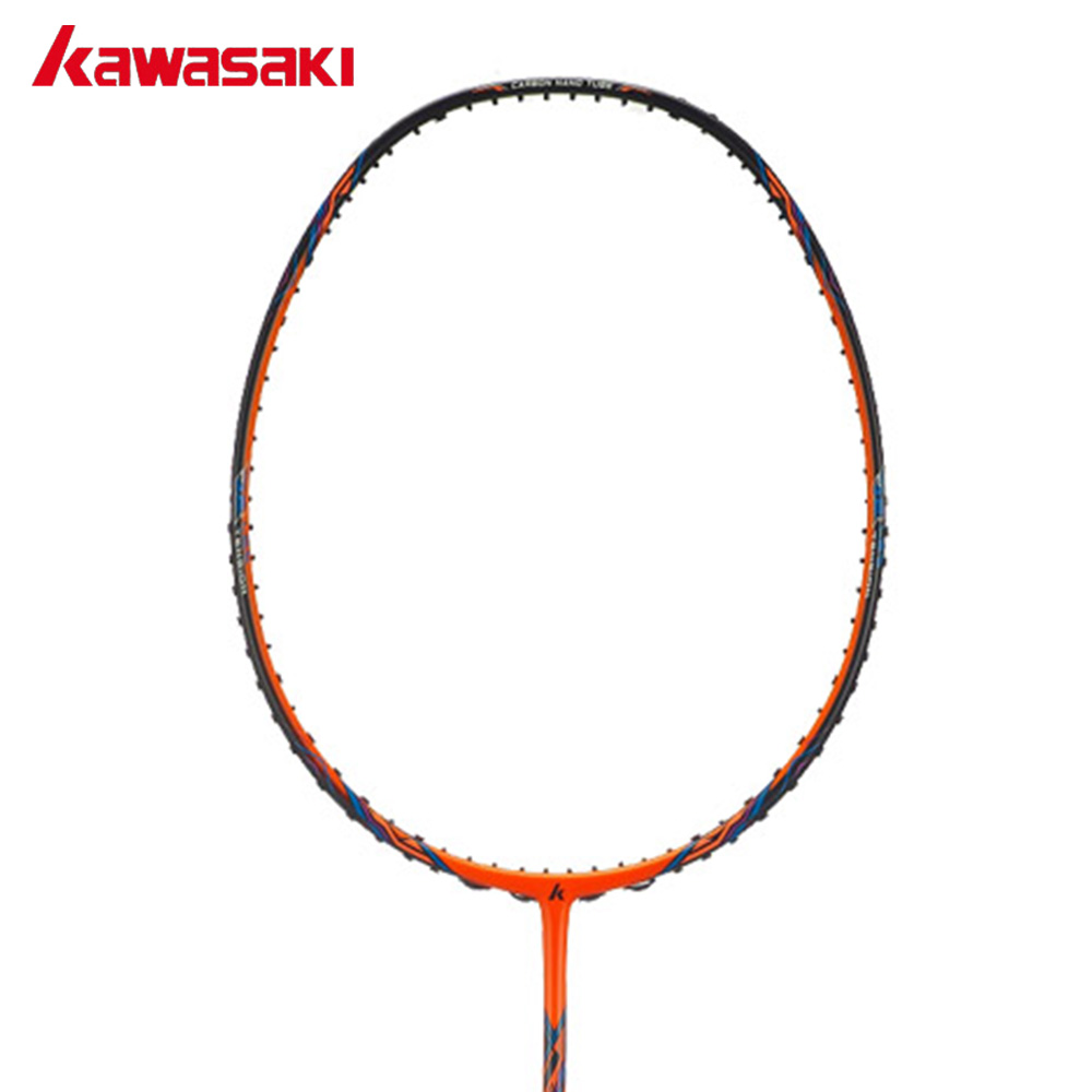 Kawasaki Brand Original High Tension 3330 Badminton Racket 18~32 Pounds Offensive Type Racquette 3U Carbon Sports Rackets