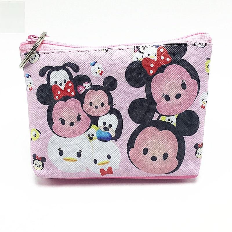 Disney кошелек для монет свежий мини сумка для хранения Творческий мультфильм Микки Маус Минни чехол для ключей дамы кошелек ЦУМ