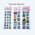 Горячее надувательство 3 шт./компл. Тайо маленький автобус тегу pegatinas juguetes 3D мультфильм наклейки pegatinas infantiles детей наклейки на ноутбук