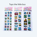 Hot sell 3pcs/set Tayo the little bus tag pegatinas juguetes 3D cartoon stickers pegatinas infantiles kids stickers in notebook