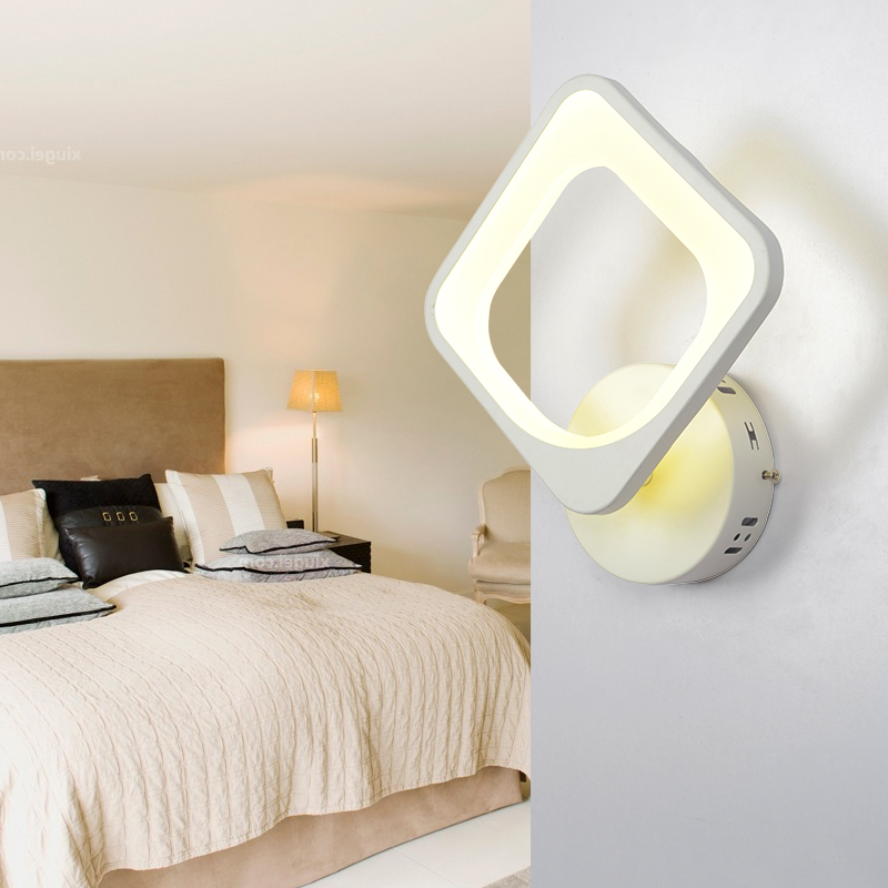Rectangle Led Wall lights modern bedroom bedside lamp wall lamp room children room entrance corridor lamp CL modern wooden led wall lamp bed room bedside natural solid wood white glass bedroom bedside aisle corridor entrance wall sconce