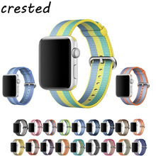 CRESTED Woven Nylon strap band For Apple Watch 42mm 38mm wrist bracelet watchband belt fabric like