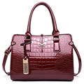 2017 spring large-capacity women handbag High quality patent leather crocodile elegant ladies shoulder bag for business and paty
