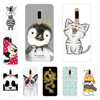 meizu m6t Case,Silicon Super cat Painting Soft TPU Back Cover for meizu m6t protect Phone shell