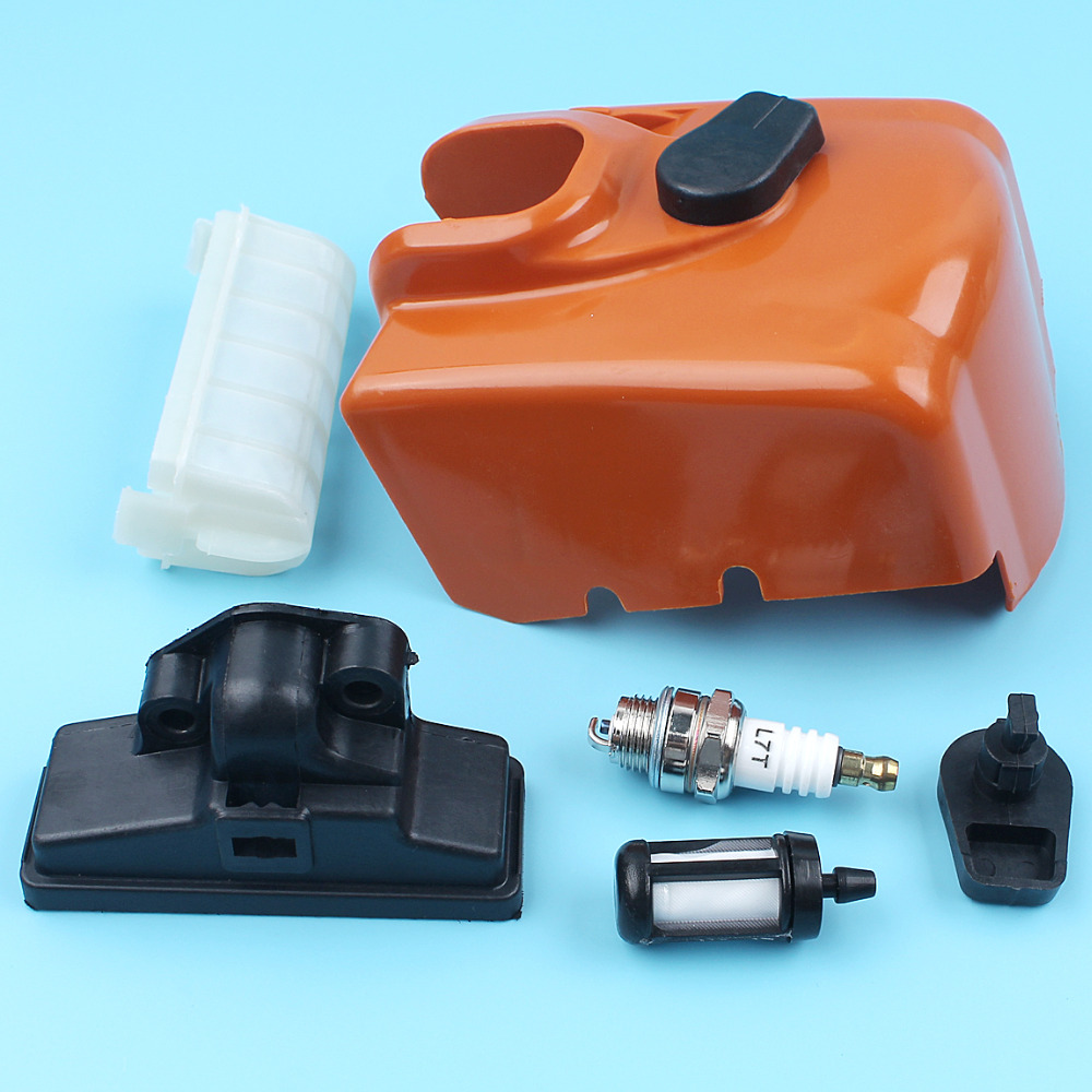 Air Filter Cover W/ Twist Lock Fuel Filter Spark Plug Kit For STIHL MS250 MS230 MS210 023 025 Chainsaw Replacement