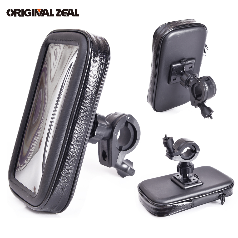 Motorcycle Phone Holder Mobile Phone Stand Support for iPhone8 7 6 GPS Bike Holder Waterproof Bag soporte movil moto For Samsung
