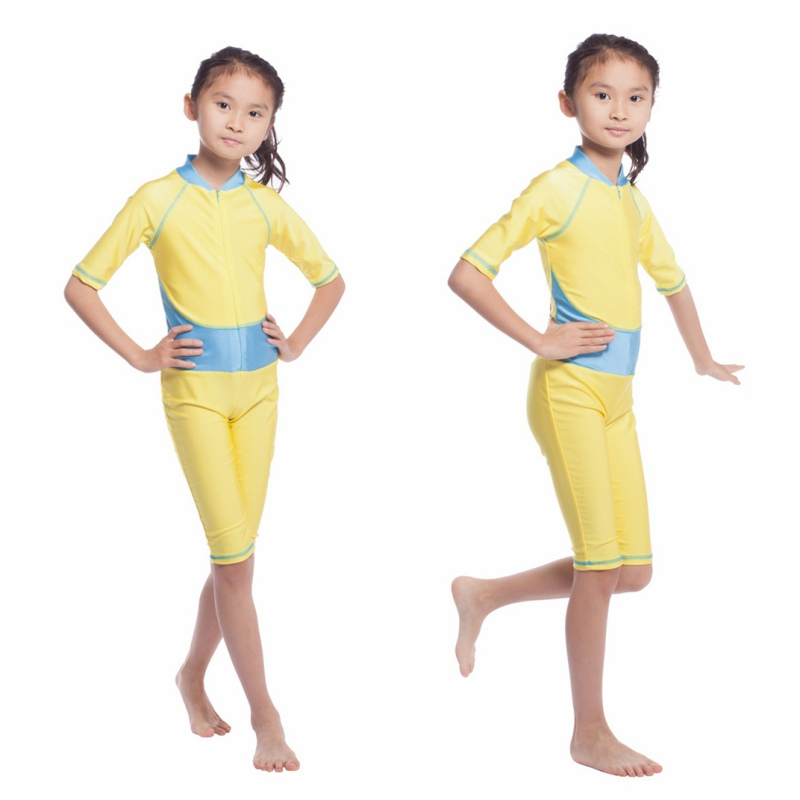 Muslim Kids Girls Full Cover Swimwear Swimsuit Set Swimming Costume Bathing Suit