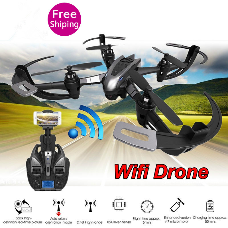 New i4W WIFI FPV RC Drone With Camera One Key Return 2.4G 4CH 6-axis Gyro RC Quadcopter RTF 3D CF Mode RC Flying Quadcopter gift yuneec typhoon h 5 8g fpv drone with realsense module cgo3 4k camera 3 axis gimbal 7 inch touchscreen rc hexacopter rtf