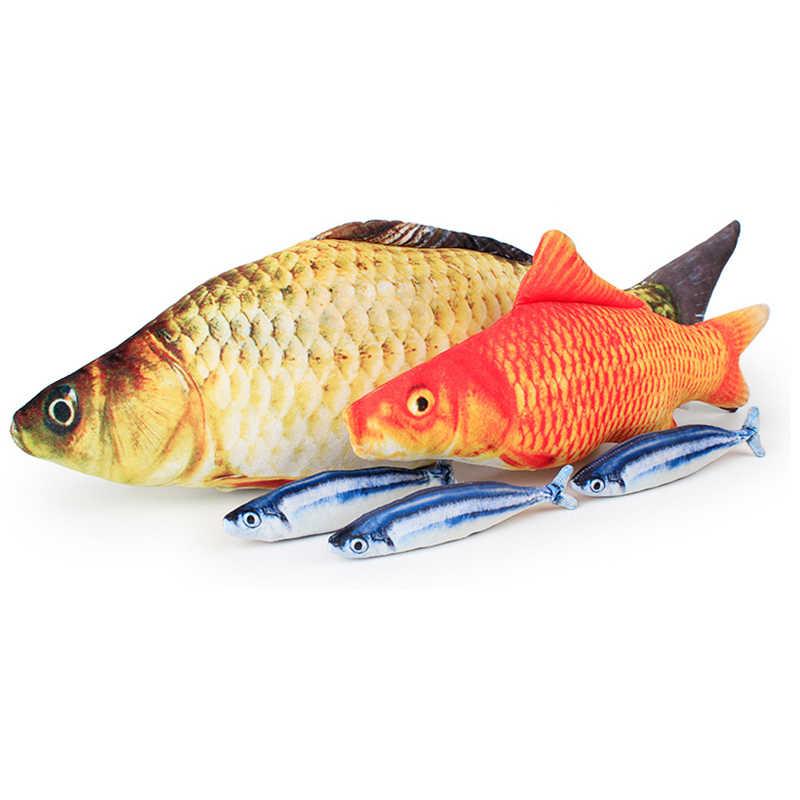 Kreatif 3D Ikan Bermain Kucing Mainan Kesehatan Lingkungan Kucing Mint Ikan Penuh Simulasi Ikan Bermain Mainan Hewan Peliharaan