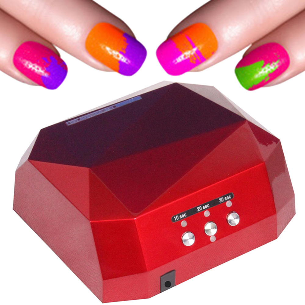 5 Colour Diamond Shape 36W Auto UV LED Lamp Dryer Curing for DIY Gel Nail Polish