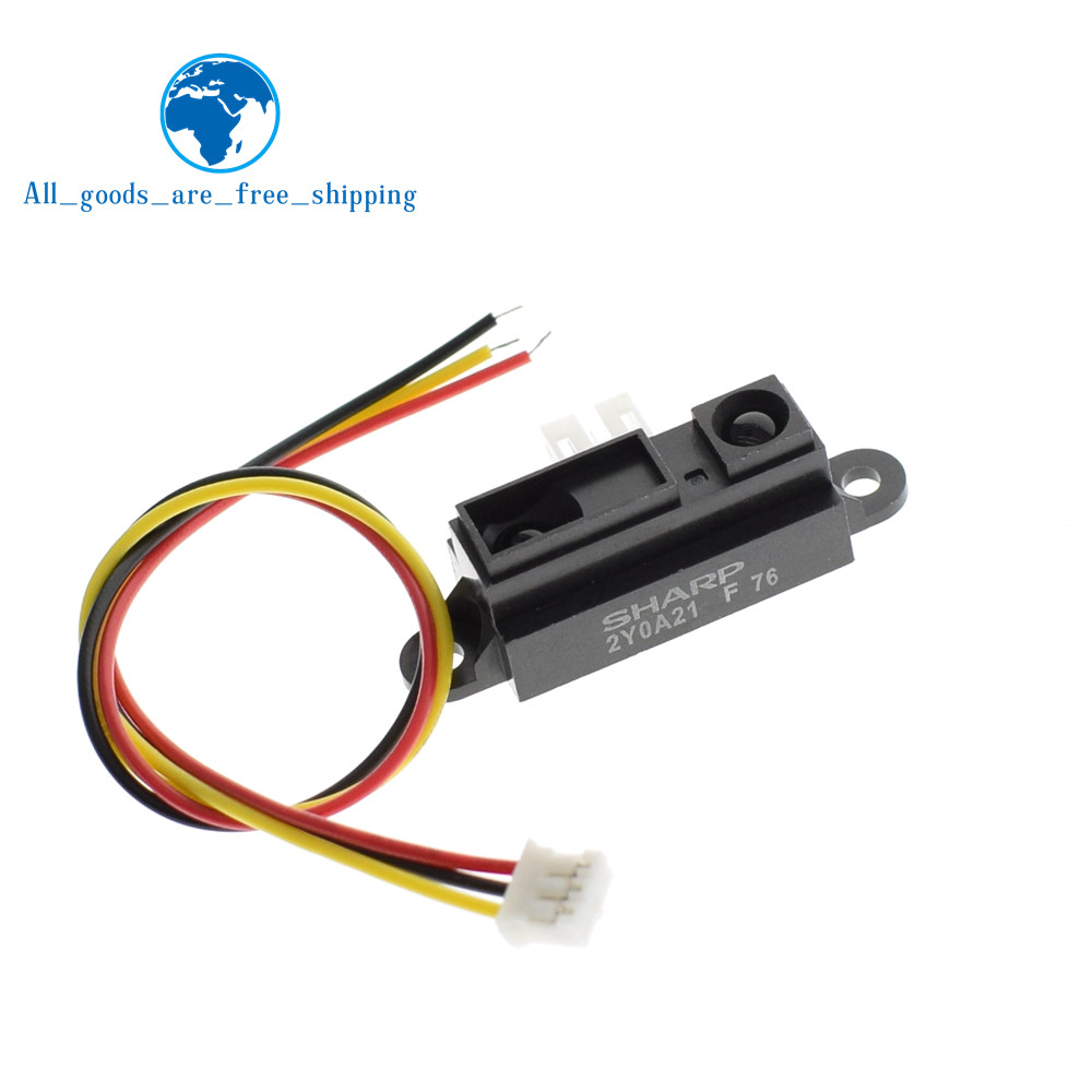 GP2Y0A21YK0F 100% NEW 2Y0A21 10-80cm Infrared distance sensor INCLUDING WIRE wire