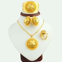 The New 2016 Big Size Ethiopian Gold Jewelry Set 24k Gold Plated Women S Fashion Jewelry