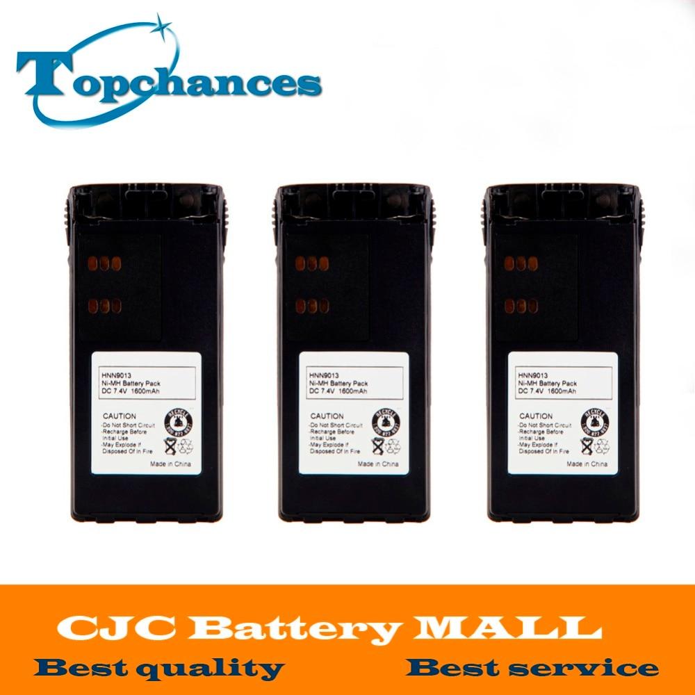 3x 1600mAh NiMH Battery For MOTOROLA MTX850 MTX850LS MTX950 MTX960 MTX8250 PR860