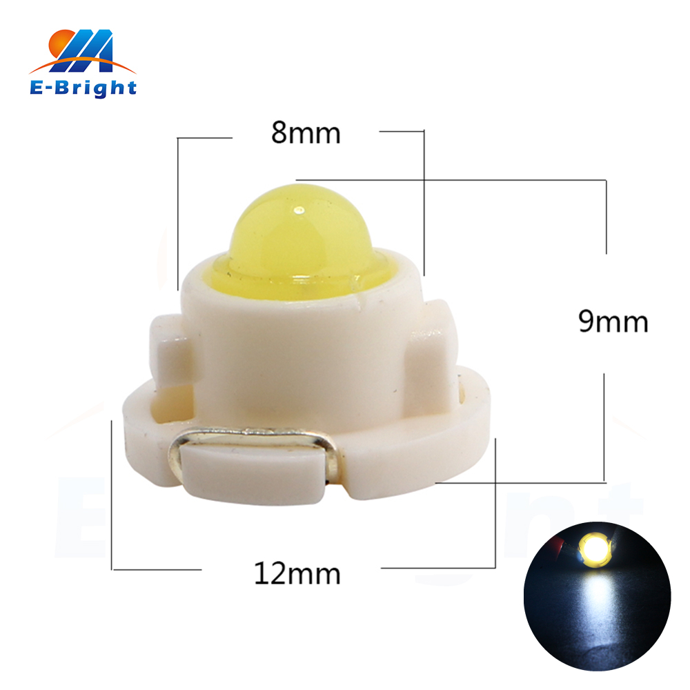 100pcs T4.7 Led COB 1 SMD Led Bulb Indicator Light Instrument Light White Red Blue Green 12V 40Lm for All Cars Free Shipping