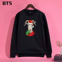 BTS Christmas Deer Sweatshirt Women Oversize Sweatshirt Plus Size Winter Fashion Creative Cute Tracksuit Loose Hoodie
