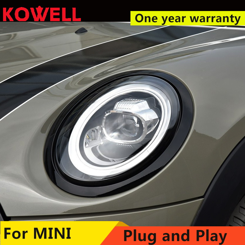 Car For 2013 2018 Mini F56 cooper headlights For F56 ALL LED head lamp Angel eye led DRL front light Bi led Lens dynamic turn-in Car Light Assembly from Automobiles & Motorcycles    2