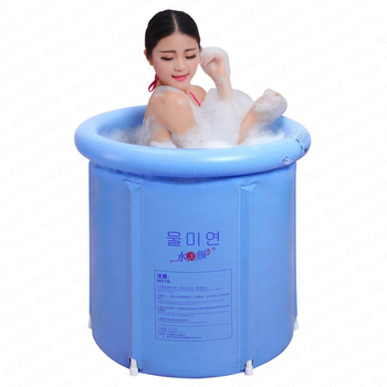 Folding Bathtub Inflatable Thicken  Plastic Adult Child Bathing Bucket Inflatable Bath Tub Baignoire Gonflable Adulte  Plastic